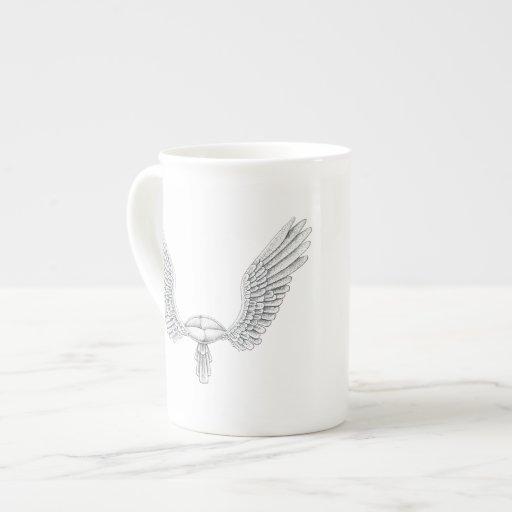 Hochzeits-Flügel Prozellantasse