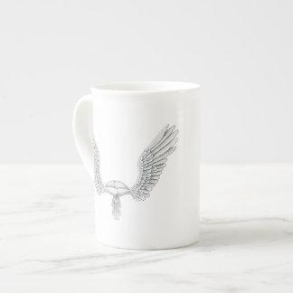 Hochzeits-Flügel Porzellantasse