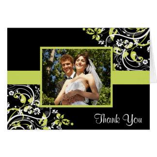 Hochzeits-Foto danken Ihnen Karten