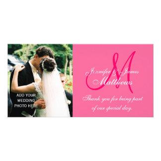 Hochzeits-Foto danken Ihnen Karten mit Monogramm-R Fotokartenvorlagen