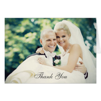 Hochzeits-Foto danken Ihnen Mitteilungskarten-| Karte