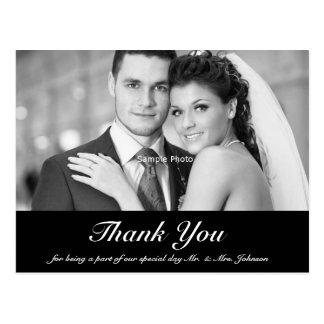Hochzeits-Foto danken Ihnen Postkarte