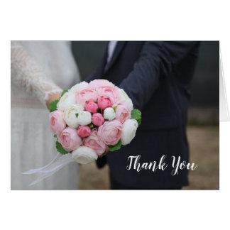 Hochzeits-Foto danken Ihnen zu kardieren Karte