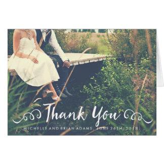 Hochzeits-Foto danken Ihnen zu kardieren Mitteilungskarte