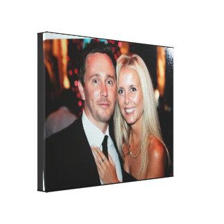 Hochzeits-Foto eingewickelte Leinwand schaffen Leinwand Druck