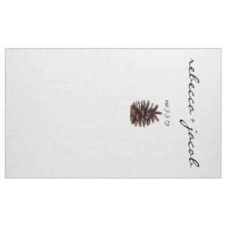 Hochzeits-Foto-Hintergrund gemalter Kiefern-Kegel Stoff