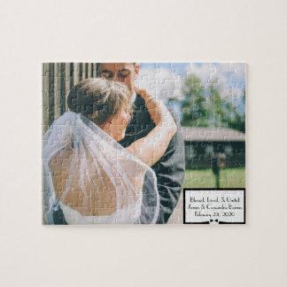 Hochzeits-Foto-Puzzlespiel