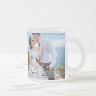 Hochzeits-Foto-Tassen-kundenspezifisches Matte Glastasse