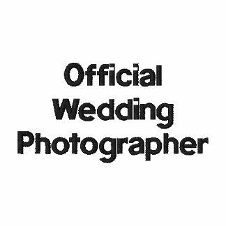 Hochzeits-Fotograf gesticktes Shirt Polohemd