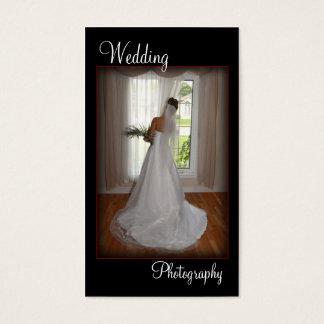 Hochzeits-Fotografie-Porträt-Visitenkarte Visitenkarten