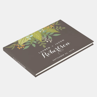 Hochzeits-Gast-Buch, Boho mit Blumen, Gästebuch