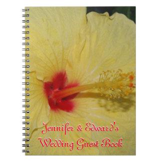 Hochzeits-Gast-Buch-GelbPlumeria Notizblock