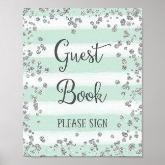 Hochzeits-Gast-Buch-Zeichen-Plakat-Druck Poster