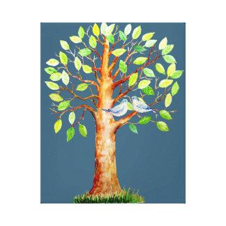 Hochzeits-Gast-unterzeichnende Baum-Leinwand Gespannte Galerie Drucke