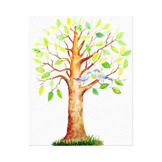 Hochzeits-Gast-unterzeichnende Baum-Leinwand Gespannter Galerie Druck