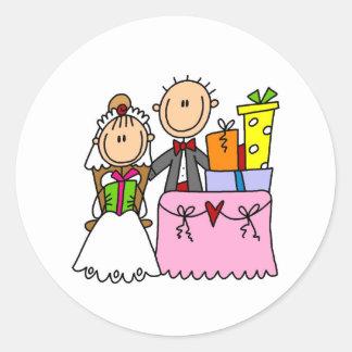 Hochzeits-Geschenk-reichlich Aufkleber