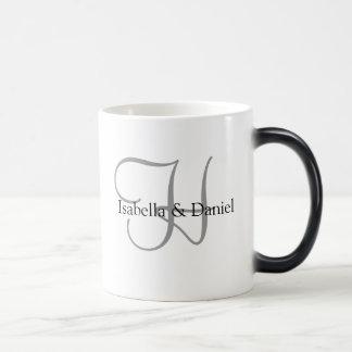 Hochzeits-Geschenk-Tassen-Monogramme Verwandlungstasse