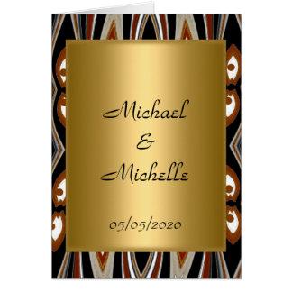 Hochzeits-Goldstammes- Einladung