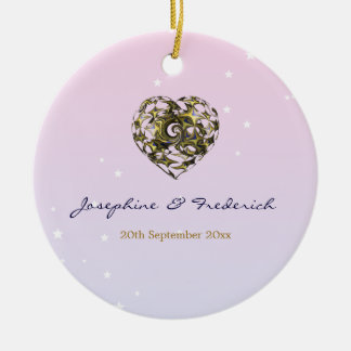 Hochzeits-Herz Keramik Ornament