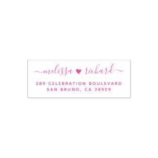 Hochzeits-Herz-Skript-Namen u. kundenspezifische Permastempel