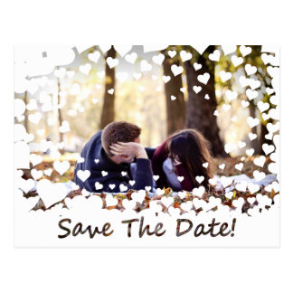 Hochzeits-Herz-Spitze Save the Date Postkarte