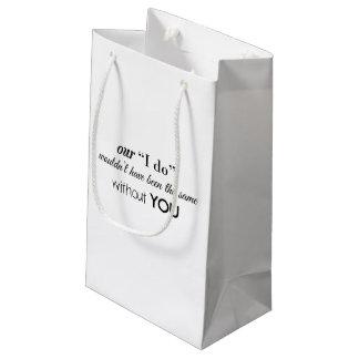 Hochzeits-Hotel-Block-Tasche Kleine Geschenktüte