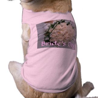 Hochzeits-HundeT - Shirt-Braut Hundeklamotten
