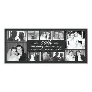 Hochzeits-Jahrestag der Foto-Feier-50. 10,2 X 23,5 Cm Einladungskarte