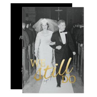 Hochzeits-Jahrestags-Foto der Gewohnheits-56. tun 12,7 X 17,8 Cm Einladungskarte