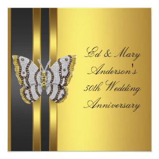 Hochzeits-Jahrestags-Party des Quadratische 13,3 Cm Einladungskarte