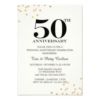 Hochzeits-Jahrestags-Party Einladung des Gold50.