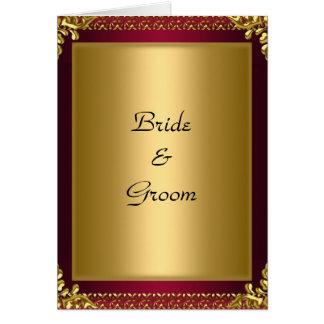 Hochzeits-Karten-Einladungs-Goldrot Karte