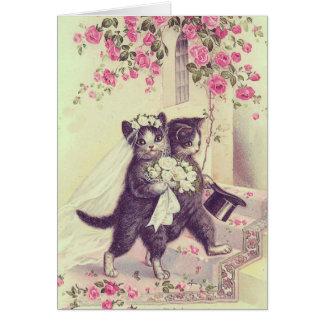 Hochzeits-Katzen-freier Raum kundengerecht Grußkarte