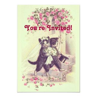 Hochzeits-Katzen-Pastellgrün Karte