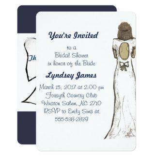 Hochzeits-Kleid/Bogen-Brautparty laden ein Karte