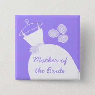Hochzeits-Kleiderlila Mutter des Brautquadrats Quadratischer Button 5,1 Cm