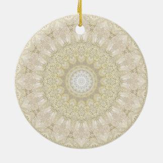 Hochzeits-KleiderMandala-Kunst Rundes Keramik Ornament