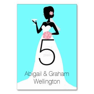 Hochzeits-KleiderTischnummer-Karte Karte