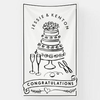 Hochzeits-Kuchen-Verlobungs-Glückwunsch-Fahne Banner