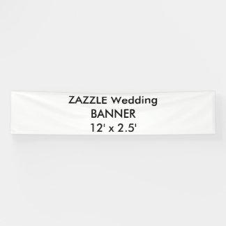 Hochzeits-kundenspezifische Fahne 12' x 2,5' Banner