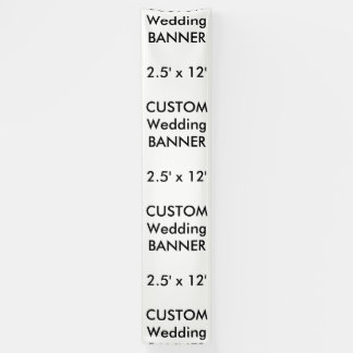Hochzeits-kundenspezifische Fahne 2,5' x12 Banner