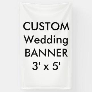 Hochzeits-kundenspezifische Fahne 3' x 5' Banner