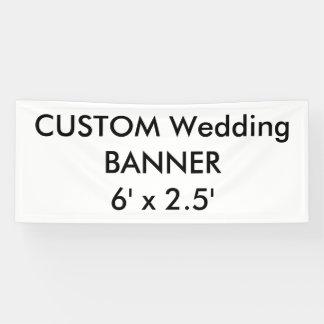 Hochzeits-kundenspezifische Fahne 6' x 2,5' Banner