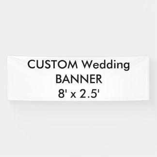 Hochzeits-kundenspezifische Fahne 8' x 2,5' Banner