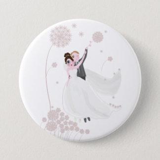 Hochzeits-Liebe Runder Button 7,6 Cm