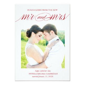 Hochzeits-Mitteilungs-Foto-Karte für Valentinstag 12,7 X 17,8 Cm Einladungskarte