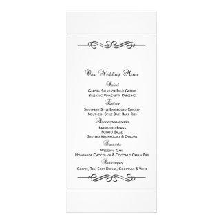 Hochzeits-Nahrungsmittelmenü Kartendruck