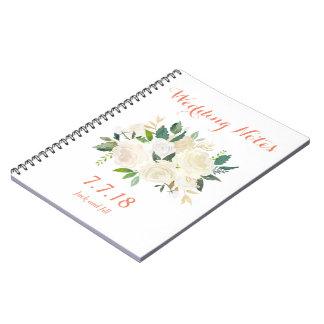Hochzeits-Notizbuch Spiral Notizblock