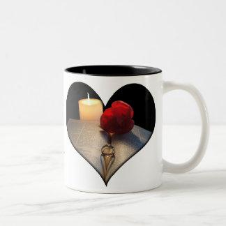Hochzeits-oder Jahrestags-Tasse - kundengerecht Zweifarbige Tasse