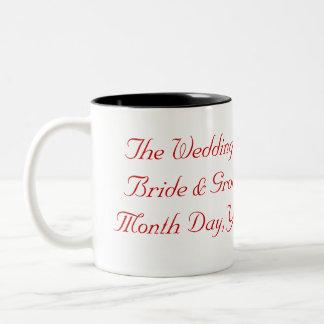 Hochzeits-oder Jahrestags-Tasse Zweifarbige Tasse